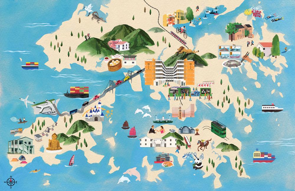 Hong Kong Tourist Map DONMAK CO