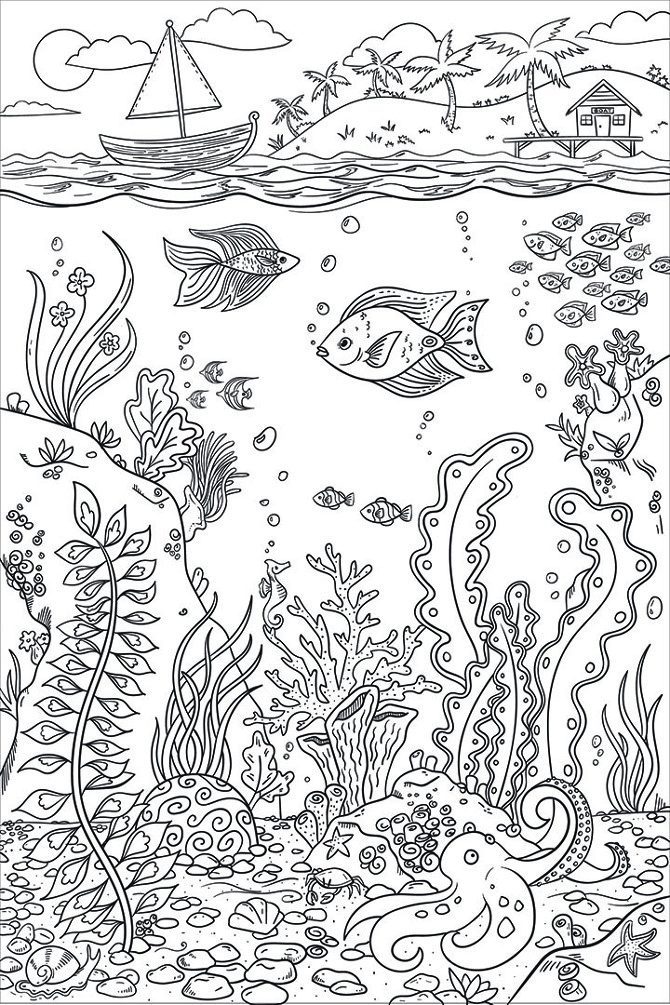 Coloring Book Designs - www.dmillustration.com